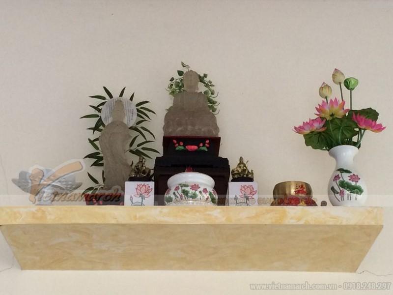 Mẫu bàn thờ Phật treo tường