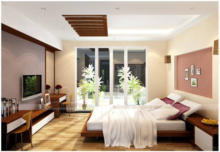 Mẫu trần thạch cao phòng ngủ 20m2