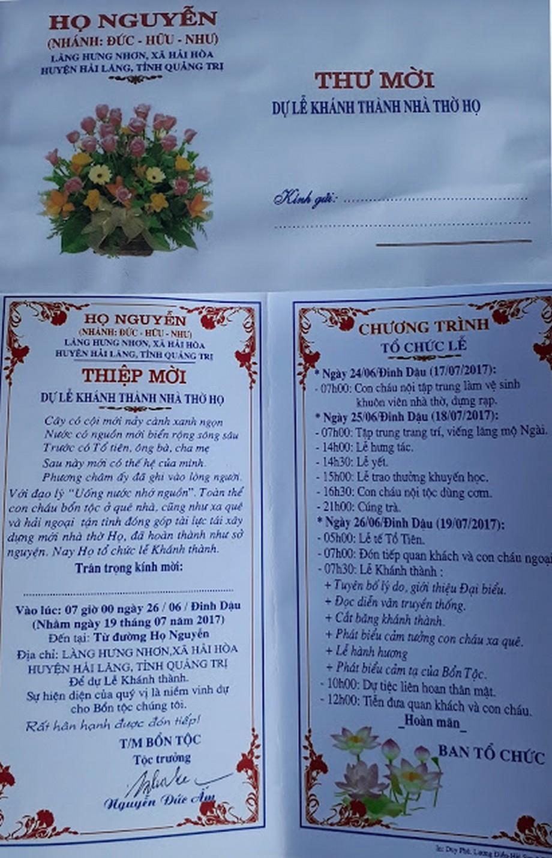 25 mẫu giấy mời khánh thành nhà thờ họ được tìm kiếm nhiều nhất
