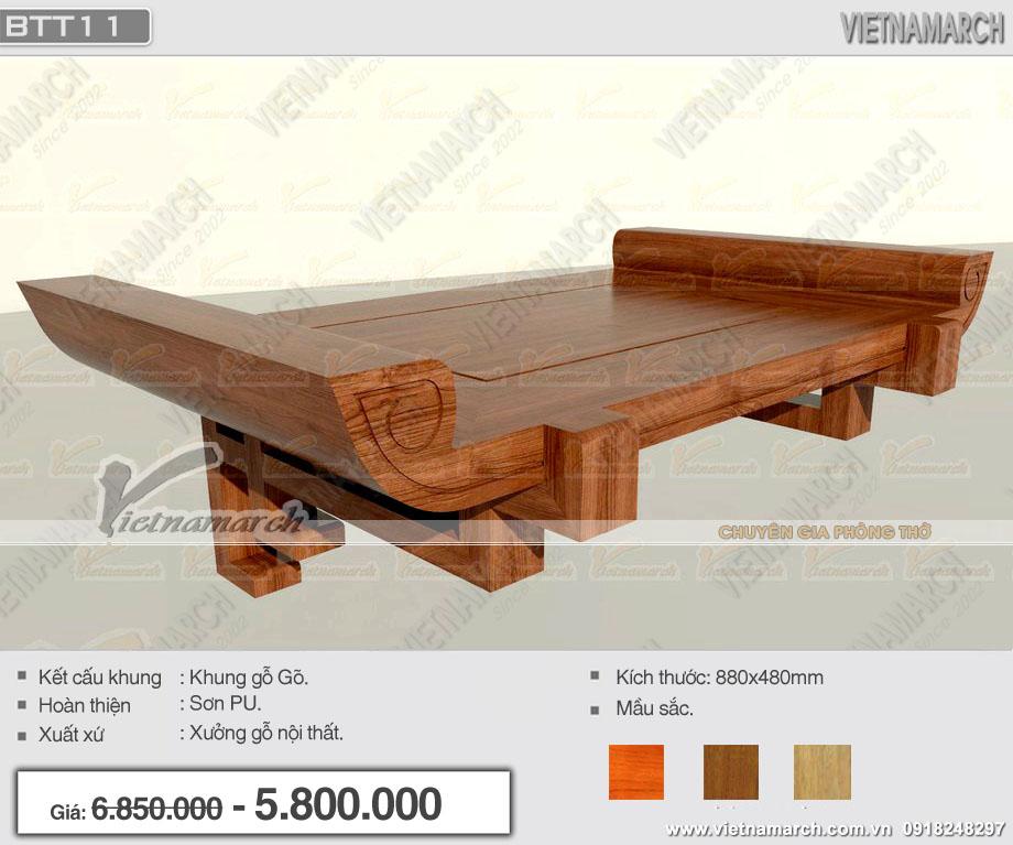 Mua bàn thờ treo tường giá rẻ ở đâu Hà Nội?
