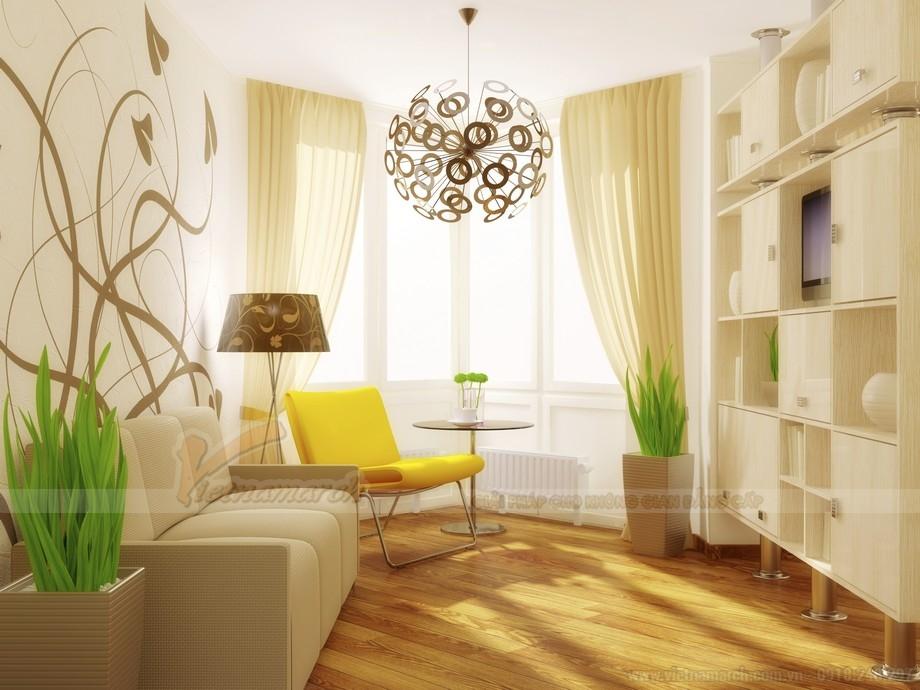 cách bố trí màu sắc và ánh sáng trong căn hộ chung cư 40 mét vuông.