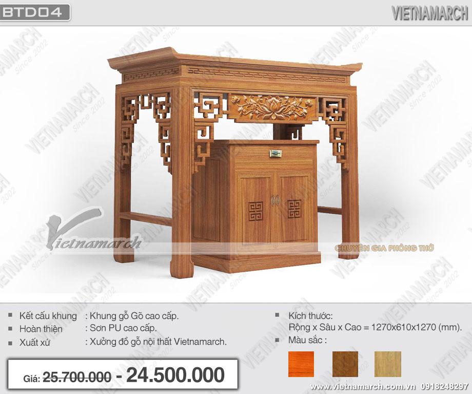 Bàn thờ cao cấp tại Hà Nội – Báo giá rẻ nhất hà nội