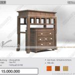 Mẫu bàn thờ đẹp bằng gỗ chắc chắn với kích thước chuẩn lỗ ban hợp với phòng khách gia đình nhỏ:BTD 11