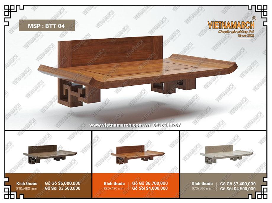Mẫu bàn thờ treo BTT04 được thiết kế sang trọng, tinh tế