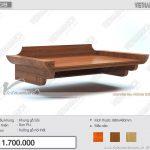 Bán bàn thờ giá rẻ: BTT 08 kích thước chuẩn lỗ ban, màu sắc đa dạng hợp nội thất phòng khách chung cư nhỏ
