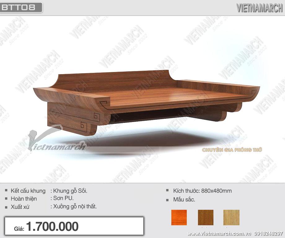 Mẫu ban thờ treo tương gỗ sồi