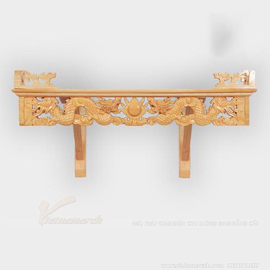 Bàn thờ treo tường với thiết kế đơn giản