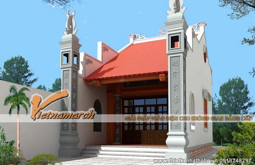 Nhà thờ họ 1 gian- mẫu nhà thờ họ diện tích nhỏ, tiết kiệm chi phí siêu đẹp