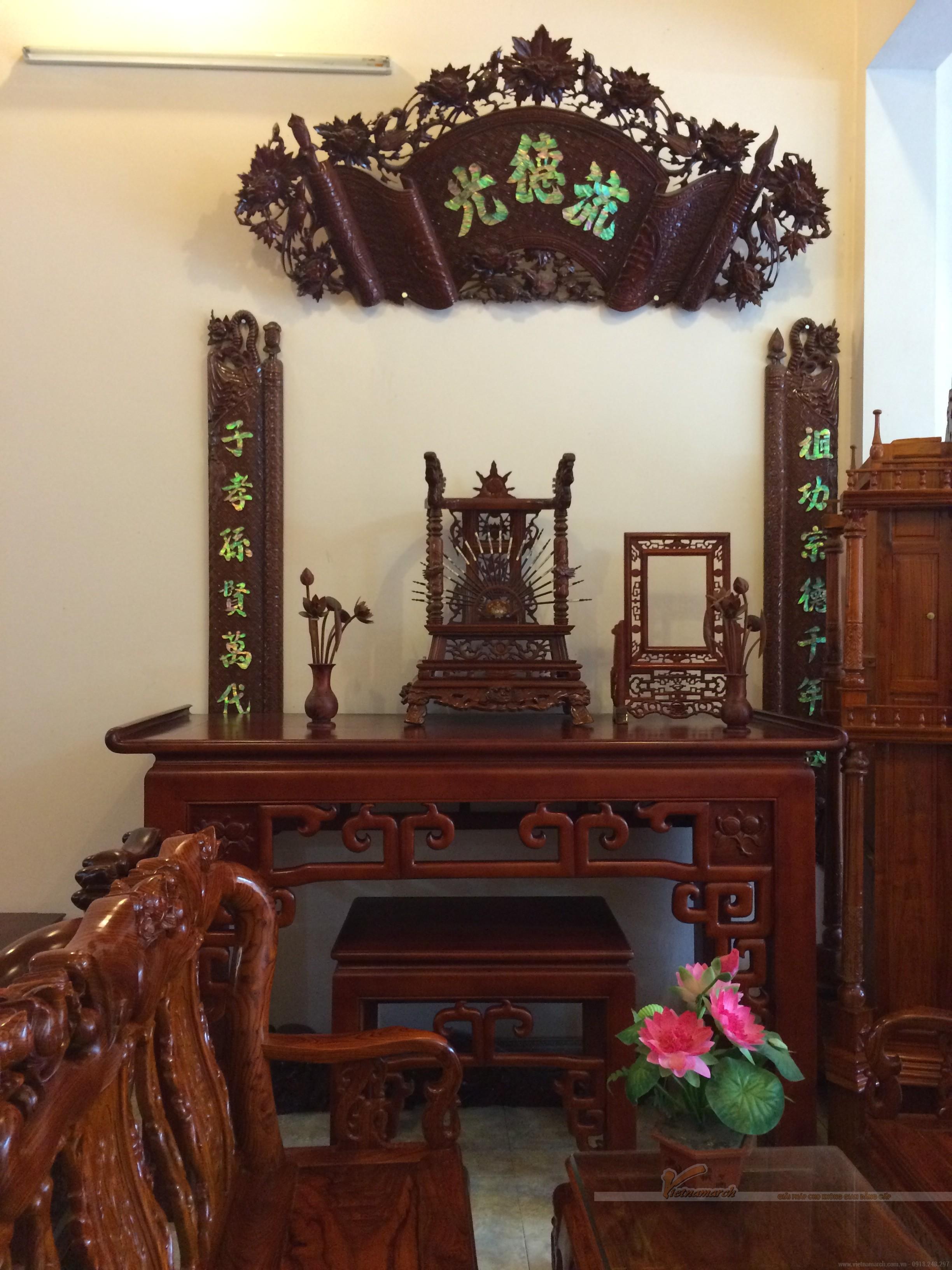 Những mẫu bàn thờ đẹp, đơn giản và hiện đại được sử dụng nhiều nhất ở Hà Nội