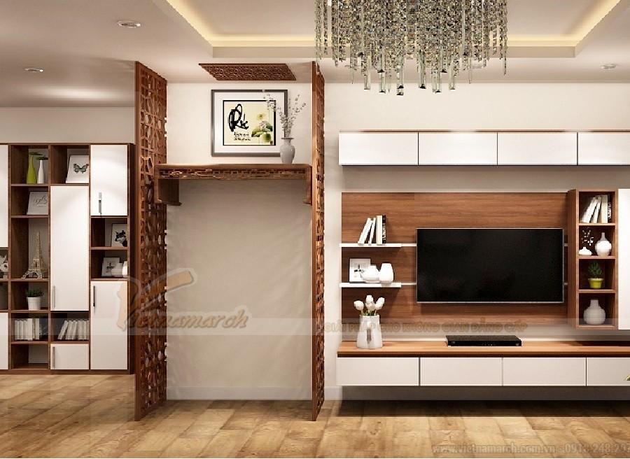 Bàn thờ kết hợp kệ tivi – xu hướng nội thất mới dành cho những không gian hiện đại