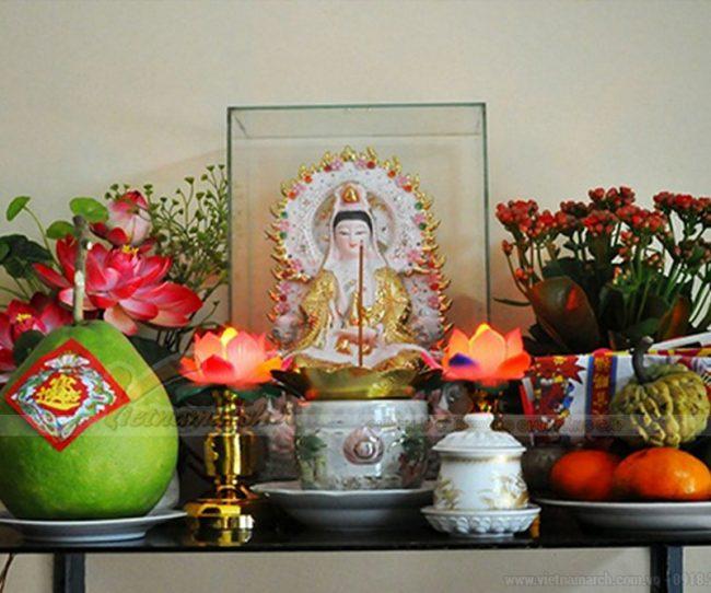 Hướng dẫn chi tiết cách bày bàn thờ Quan âm tại nhà và đồ cúng lễ Mẹ Quan âm