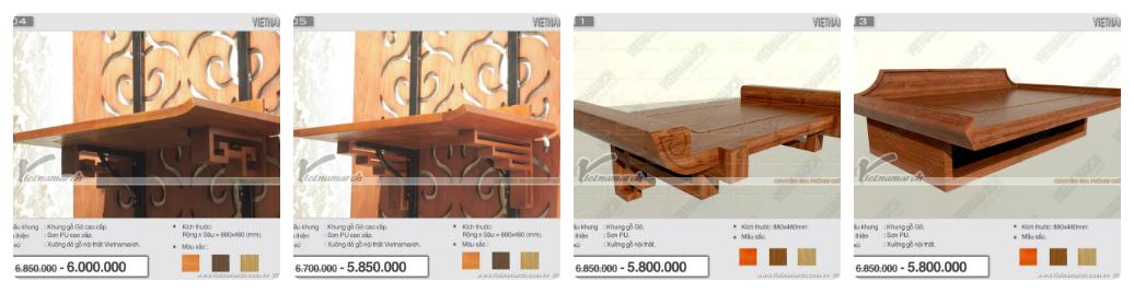 Top 10 mẫu bàn thờ treo tường bằng gỗ bán chạy nhất – Báo giá bàn thờ siêu tốt