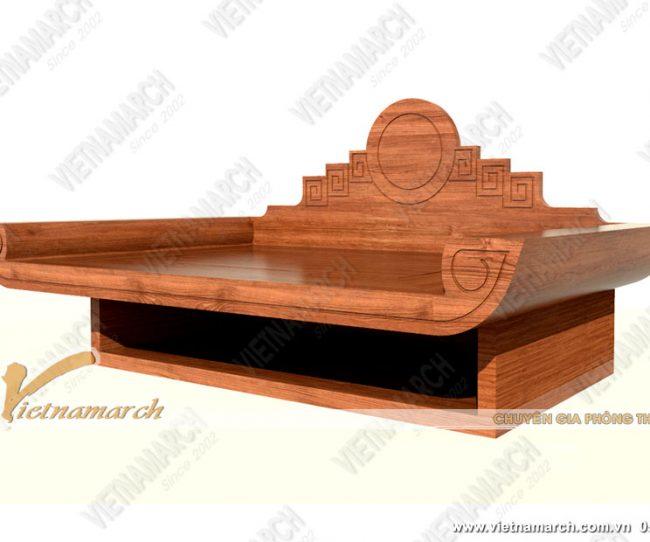 Mẫu bàn thờ treo tường gỗ gõ đỏ