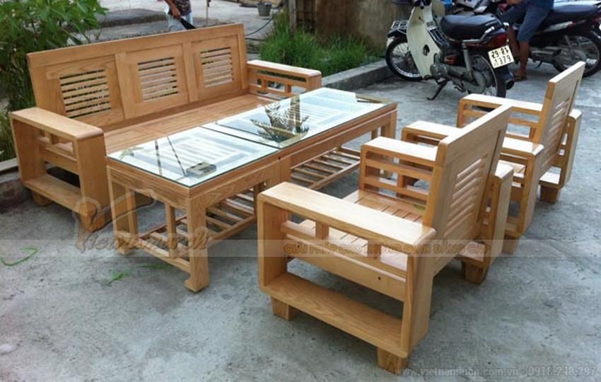Lựa chọn gỗ làm chất liệu cho bộ bàn ghế phòng khách nhỏ