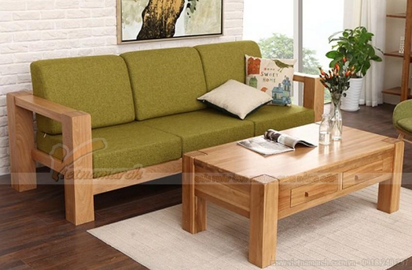 Thêm đệm màu sắc cho bàn ghế gỗ phòng khách nhỏ
