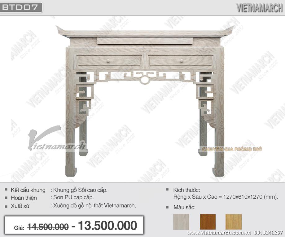 Báo giá bàn thờ đứng gỗ sồi , gỗ gụ , gỗ gõ rẻ nhất Hà Nội