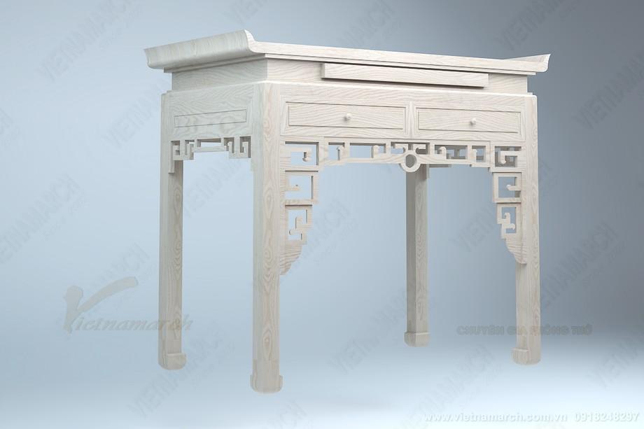 Thiết kế bàn thờ màu trần sồi đơn giản , không có bàn cơm đẹp : BTD 07