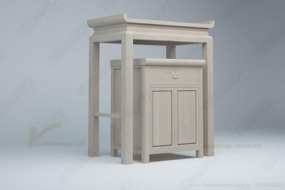Mẫu bàn thờ đứng giá rẻ tại Hà nội dành cho chung cư nhà nhỏ
