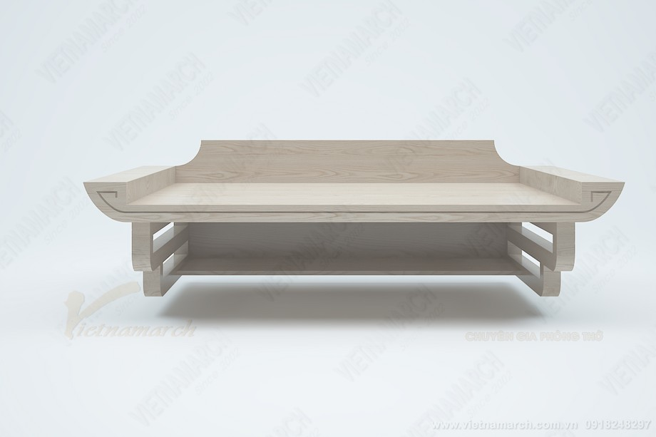 Mẫu bàn thờ treo gỗ sồi bền đẹp giá rẻ tại Hà Nội: BTT 07