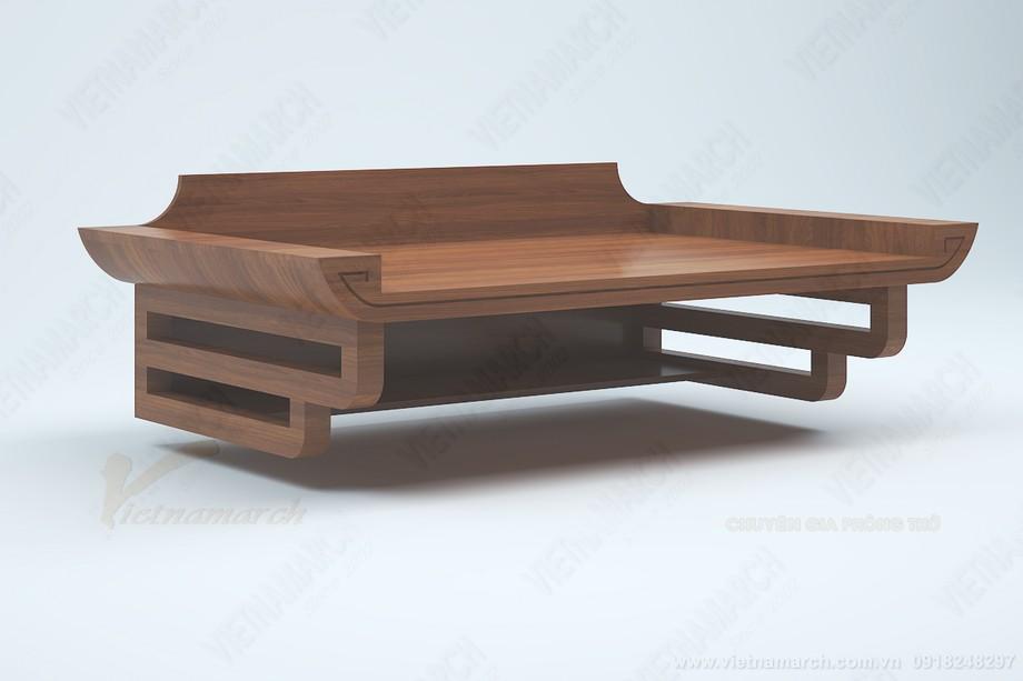 Bàn thờ treo gỗ sồi bền bỉ chắc chắn