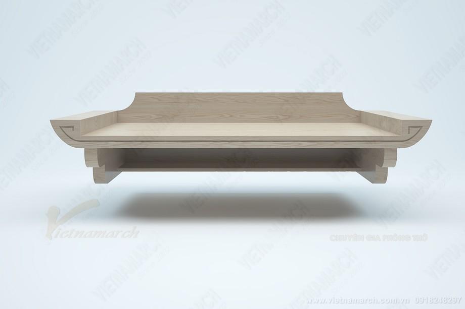 Bán bàn thờ giá rẻ: BTT 08 kích thước chuẩn lỗ ban cho phòng khách