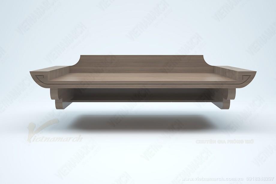 Bán bàn thờ giá rẻ: BTT 08 kích thước chuẩn lỗ ban cho phòng khách phòng thờ nhỏ