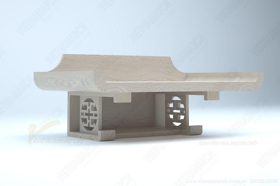 mẫu bàn thờ treo tường có ngăn, kiểu dáng hiện đại độc đáo: BTT 10