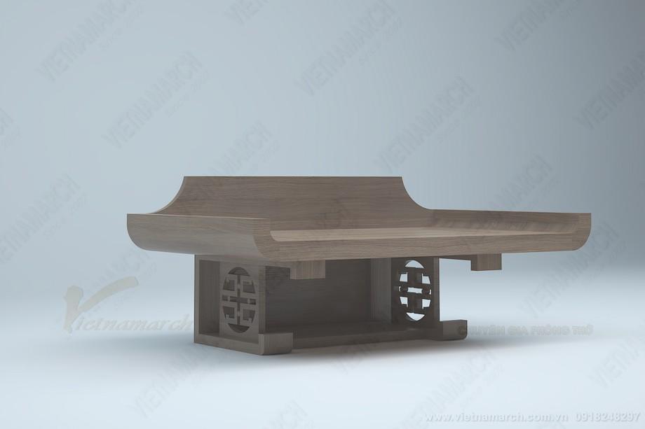 Mẫu bàn thờ treo tường có ngăn, kiểu dáng hiện đại độc đáo