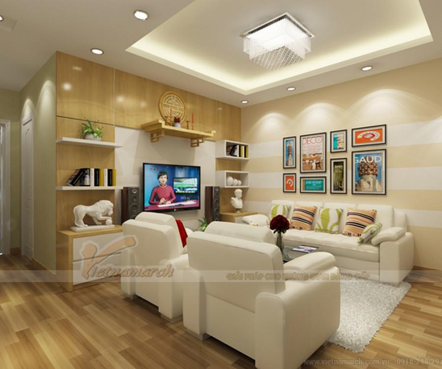 Phòng khách kết hợp để bàn thờ - Giải pháp tiết kiệm không gian cho ngôi nhà của bạn