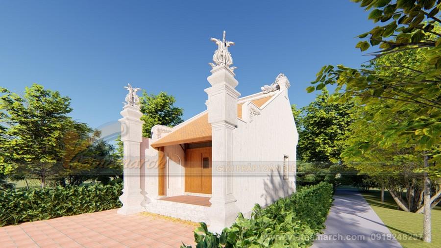 nhà thờ tổ 1 gian hai mái