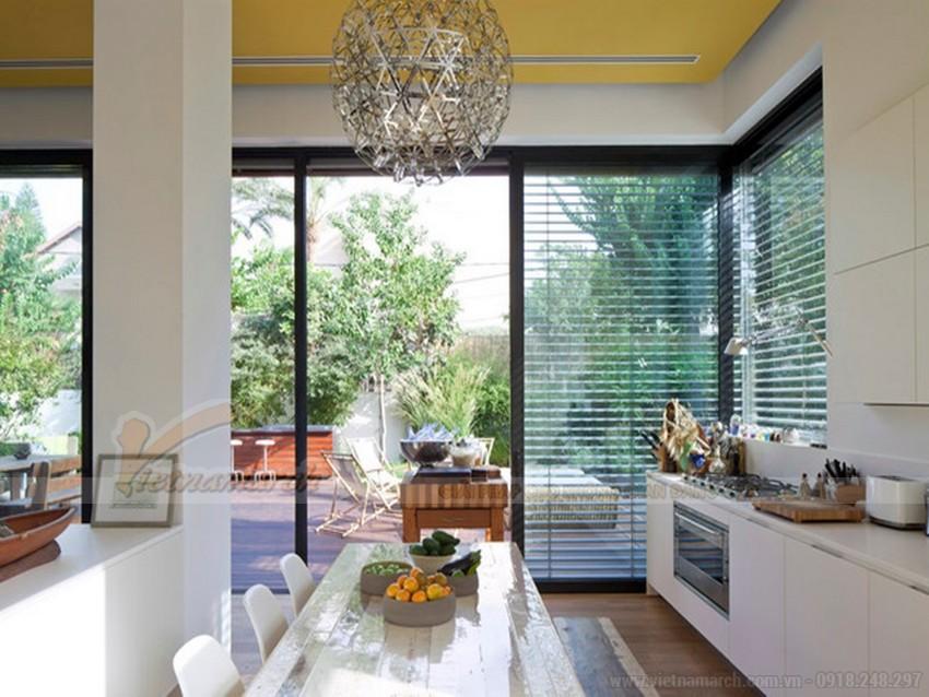 Chọn màu sơn trần nhà màu vàng sang trọng