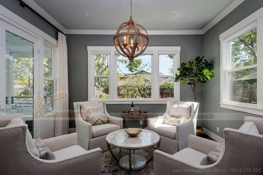 Phối màu trần nhà phù hợp với màu tường