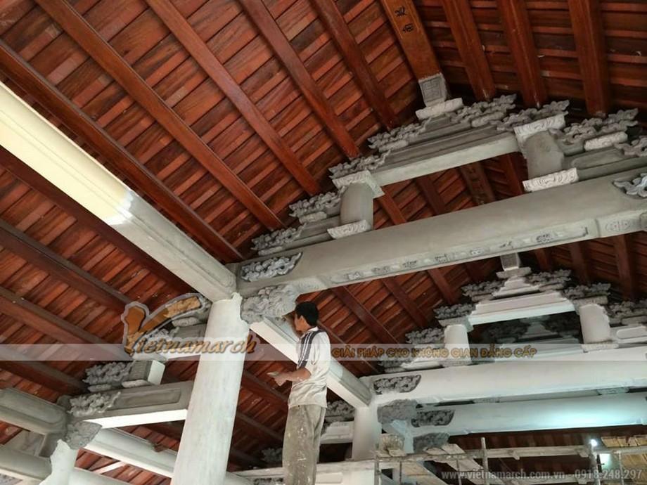 Thi công nhà thờ họ bê tông giả gỗ