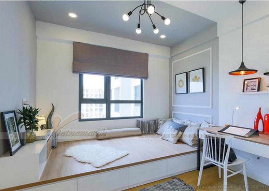 Thiết kế nội thất phòng ngủ nhỏ chung cư 2 phòng ngủ