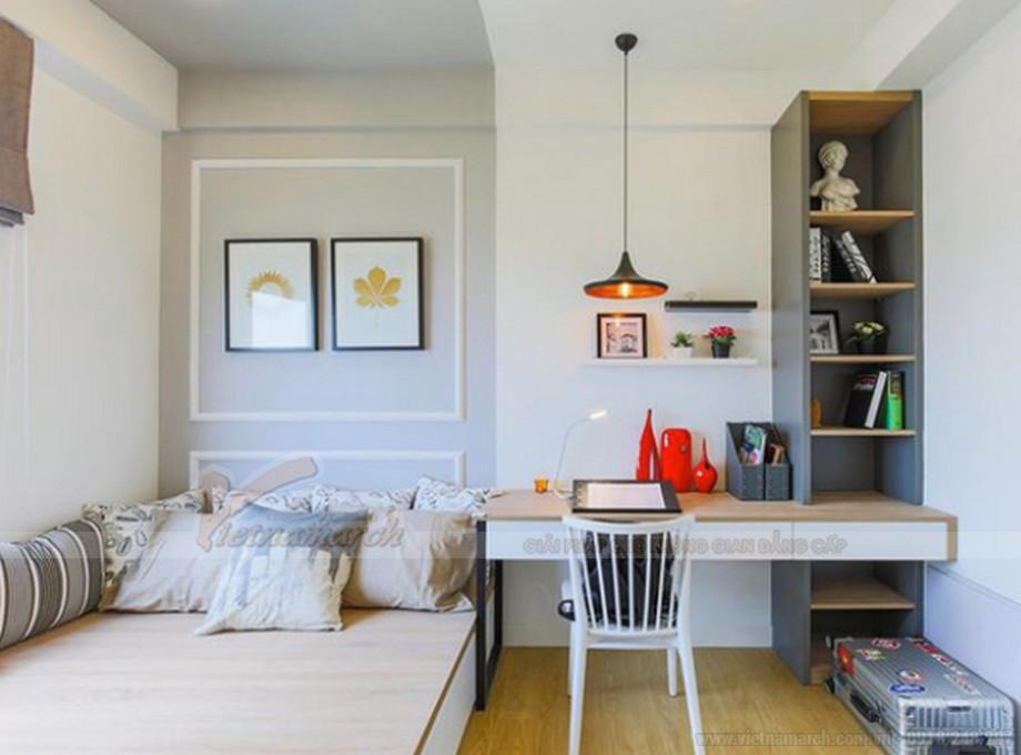 Thiết kế nội thất phòng ngủ chung cư hiện đại, đẹp mắt