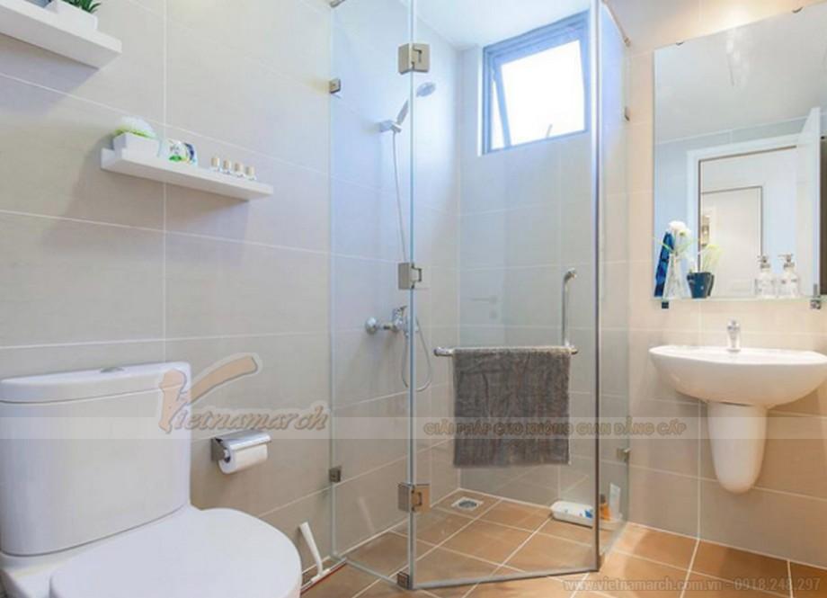 Thiết kế nội thất phòng tắm chung cư 2 phòng ngủ tiện nghi