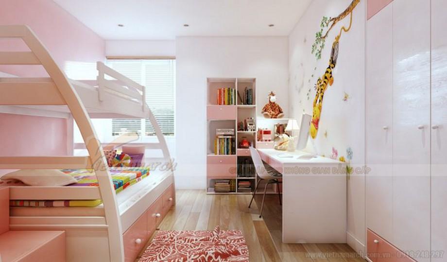 Thiết kế nội thất phòng ngủ trẻ em chung cư