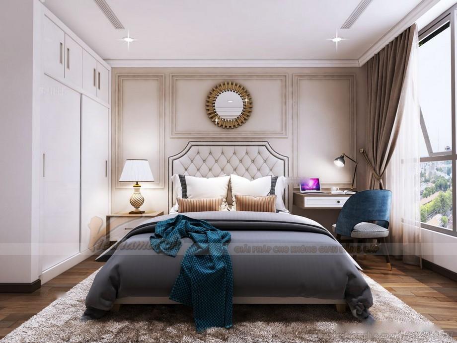 Thiết kế nội thất phòng ngủ chung cư 2 phòng ngủ