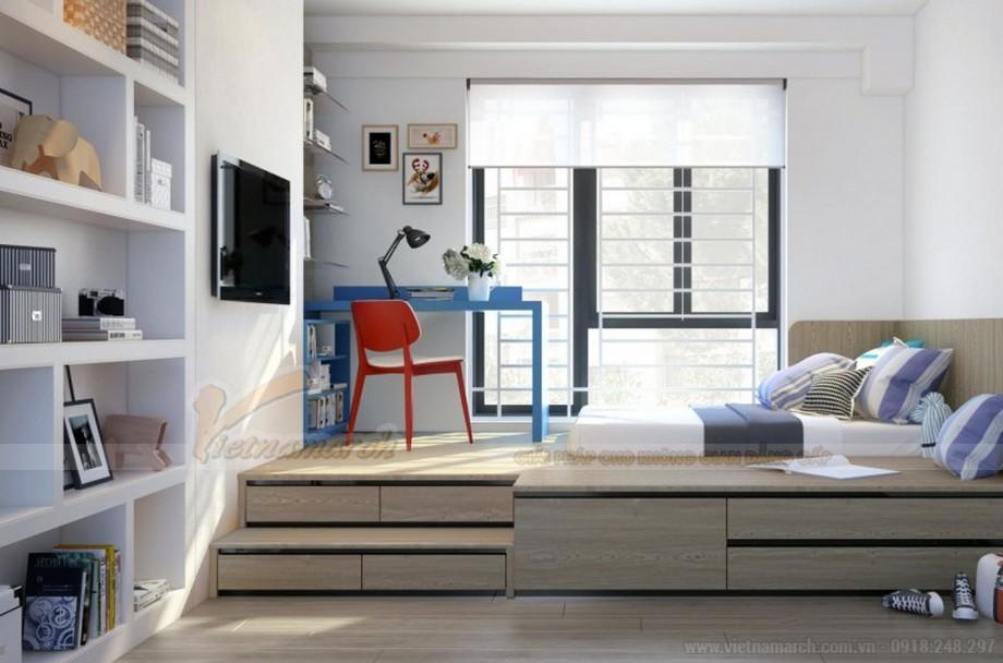 Thiết kế nội thất phòng ngủ bé chung cư 2 phòng ngủ
