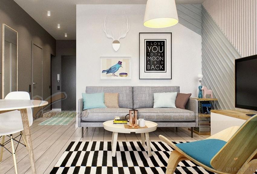 Sofa văng được thiết kế theo hình chữ I và chạy dọc theo tường
