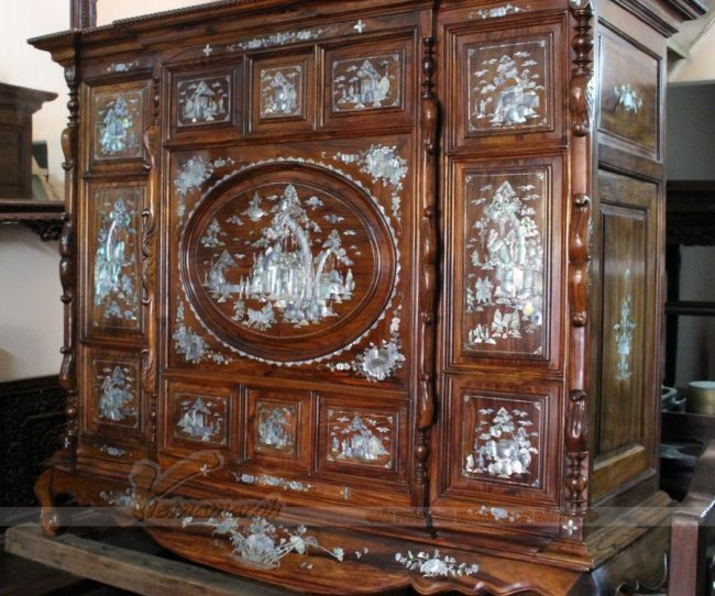 Tủ thờ cao cấp gỗ gụ