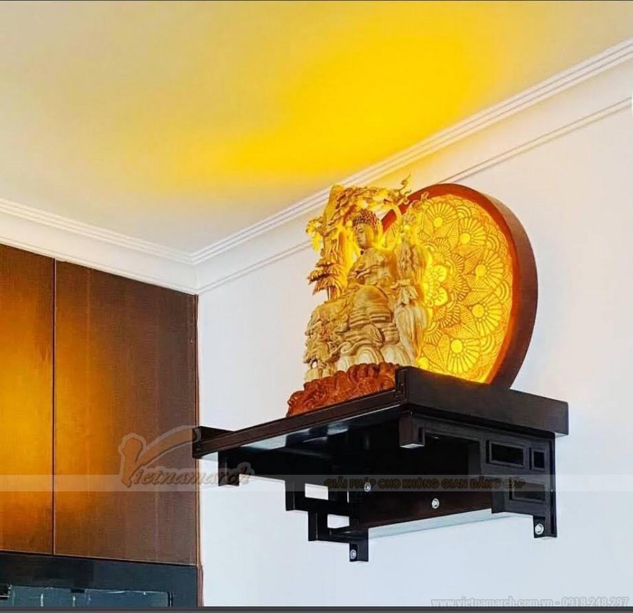 Mẫu bàn thờ treo tường gỗ Gụ có thiết kế đẹp nhất thị trường