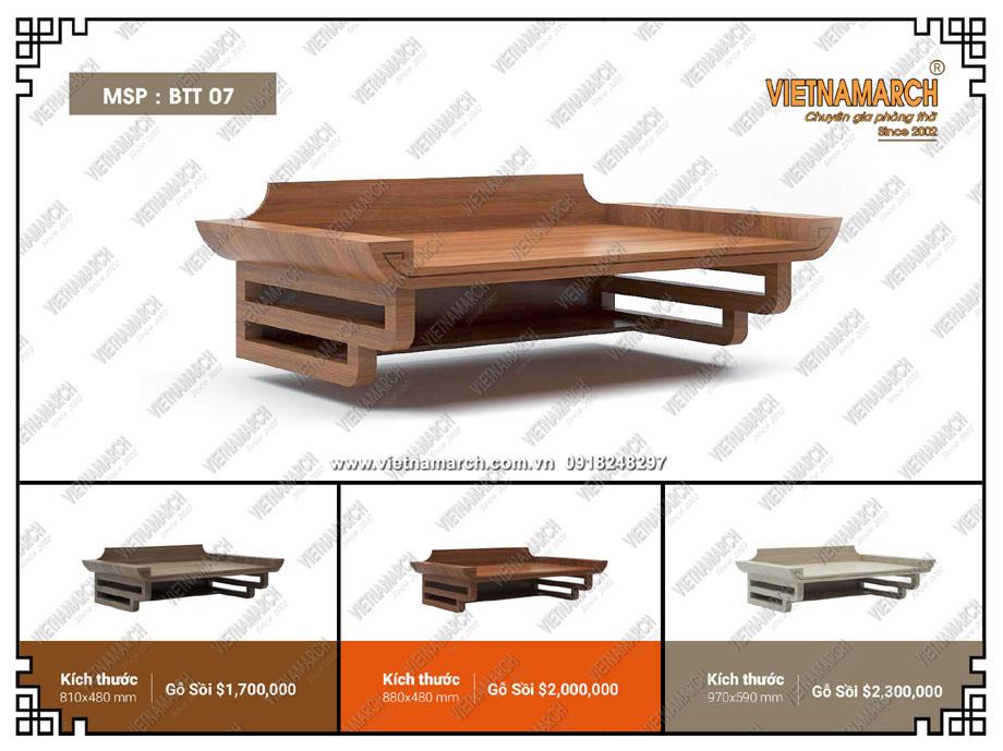 Mẫu thiết kế bàn thờ treo giá rẻ cho căn hộ chung cư có diện tích nhỏ
