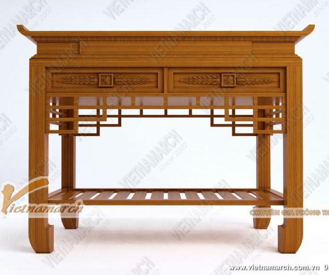 Bàn thờ gỗ 4 chân đơn giản