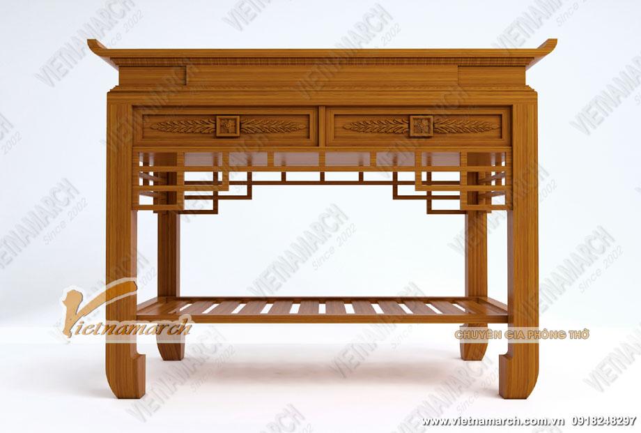 Bàn thờ 4 chân là gì? Phân biệt bàn thờ đứng, tủ thờ, bàn thờ treo, ngai thờ và khám thờ
