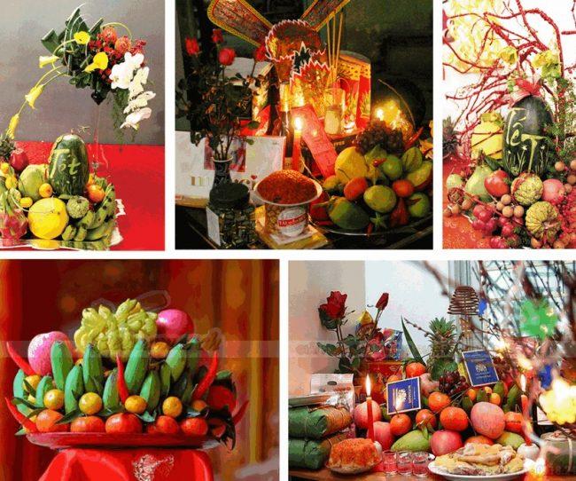 trang trí bàn thờ ngày tết đón năm mới tràn ngập niềm vui