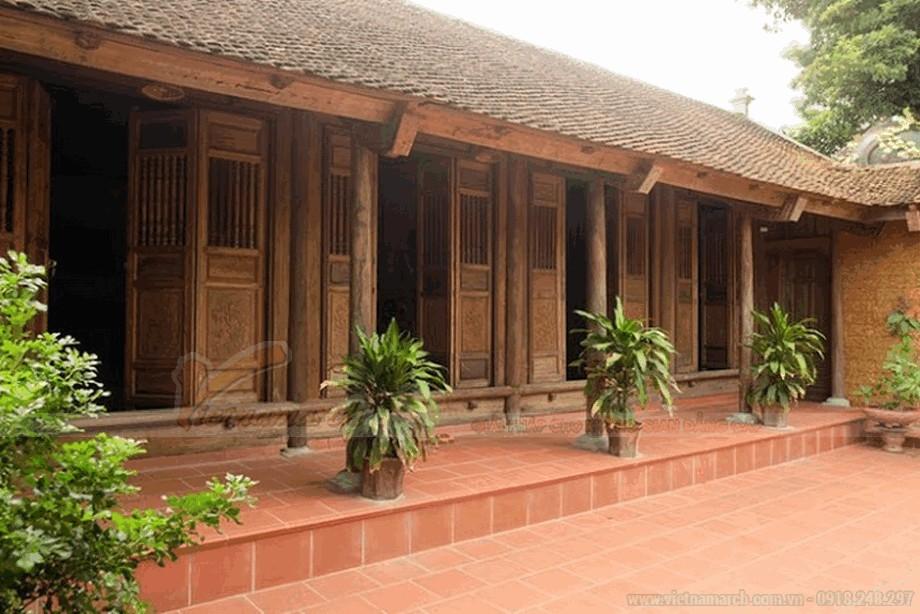 Mẫu nhà thờ họ bằng gỗ đẹp view1