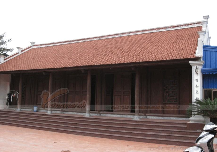 Mẫu nhà thờ họ bằng gỗ đẹp view3