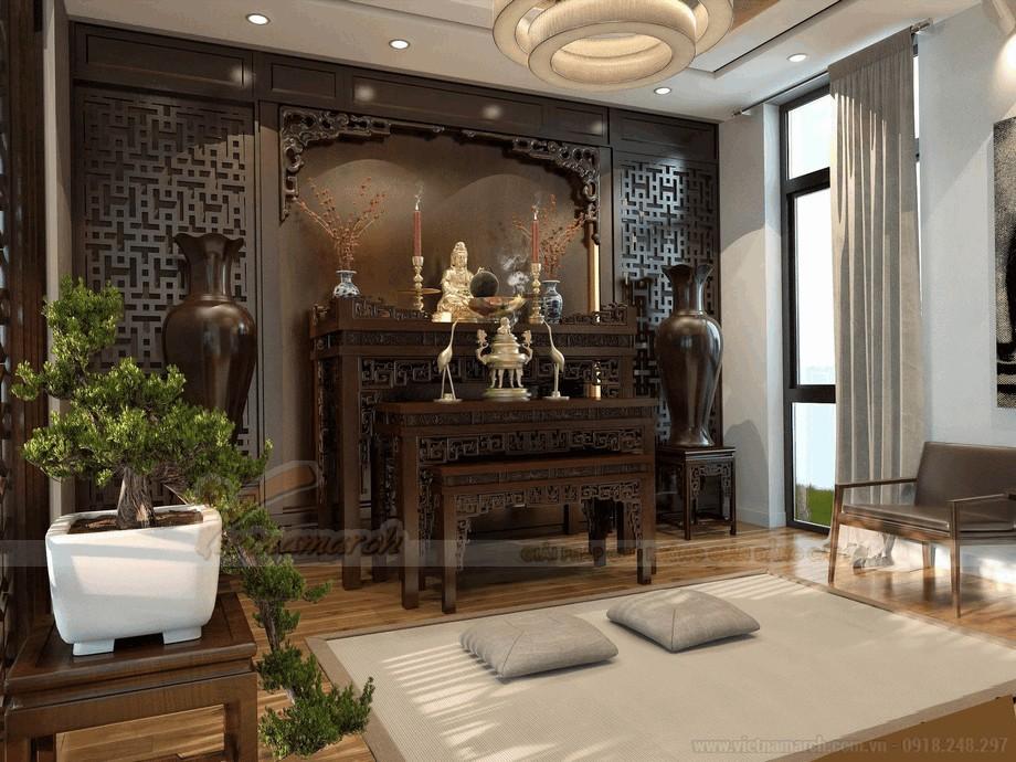 Tử thờ hiện đại làm tăng vẻ tôn nghiêm cho căn phòng view4