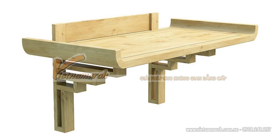 Mẫu bàn thờ treo gỗ sồi trắng siêu đẹp, màu sắc trẻ trung hiện đại